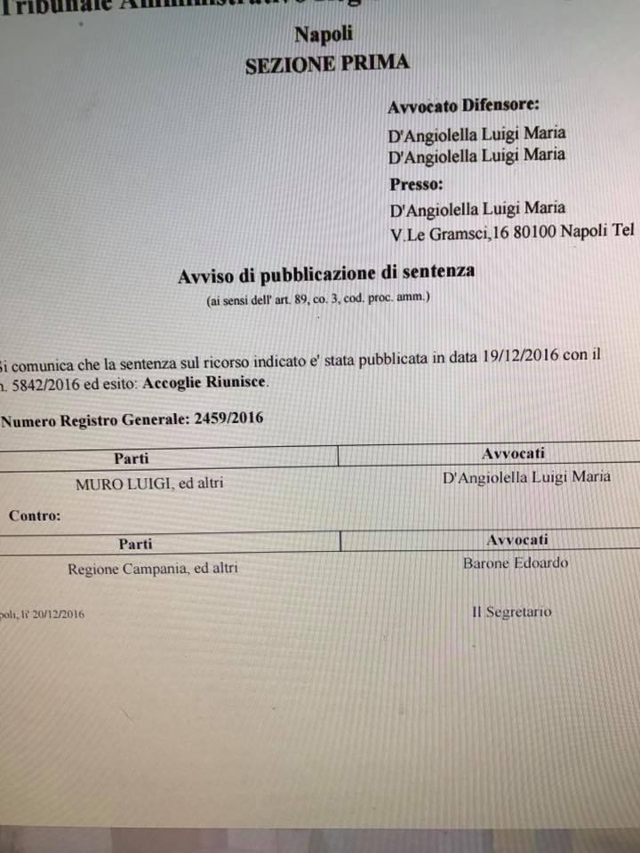 CAUSE, APPELLI, GIUDICI. ALBANO FRANCESCANO, DI MALE IN PEGGIO. Avv. Luigi Muro: « Il Sindaco di Procida perchè non garantisce i diritti dei procidani e nomina i 6 rappresentanti?»
